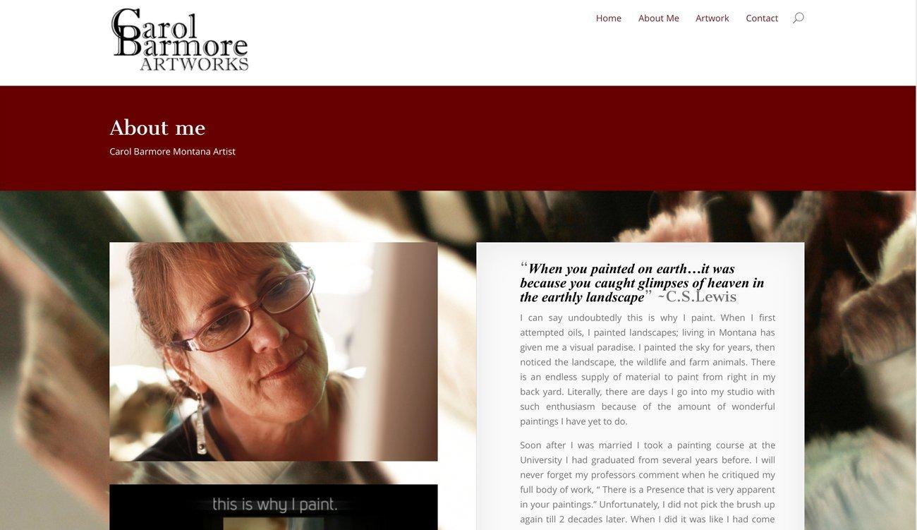 Montana Artist Website Design