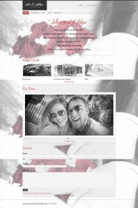 Wedding Website Full Page