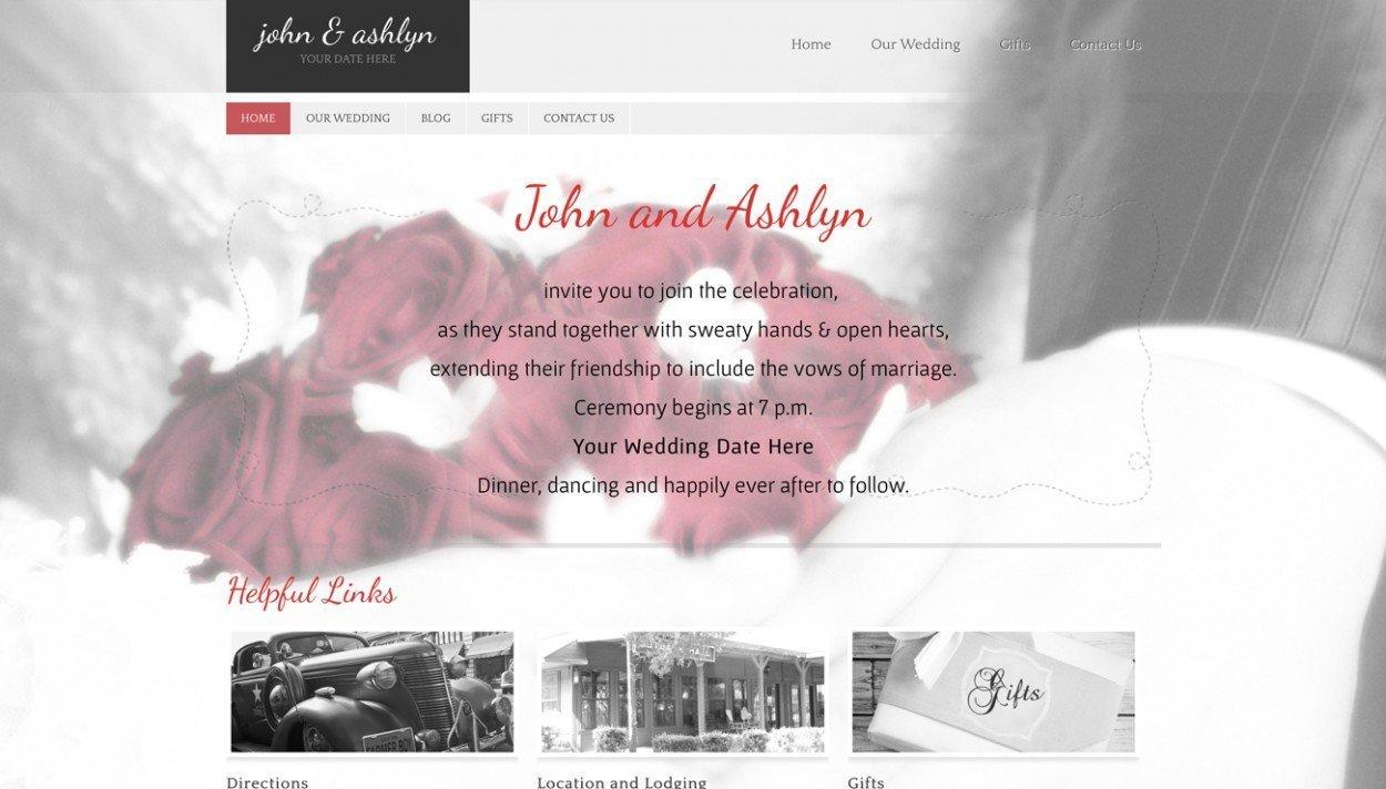 Wedding Website Portfolio