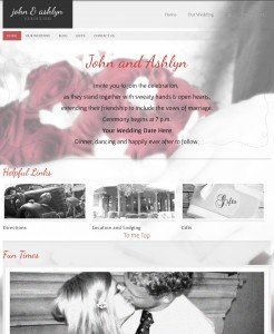 Wedding Website iPad View