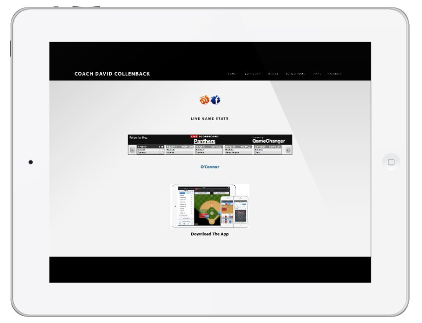 Coach – School Site with Live Game Feed