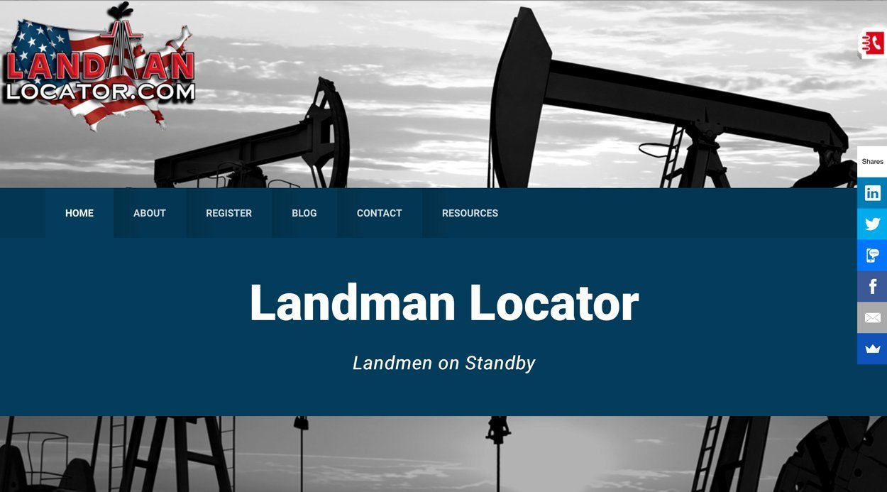 Texas Gas Oil Industry Website Design