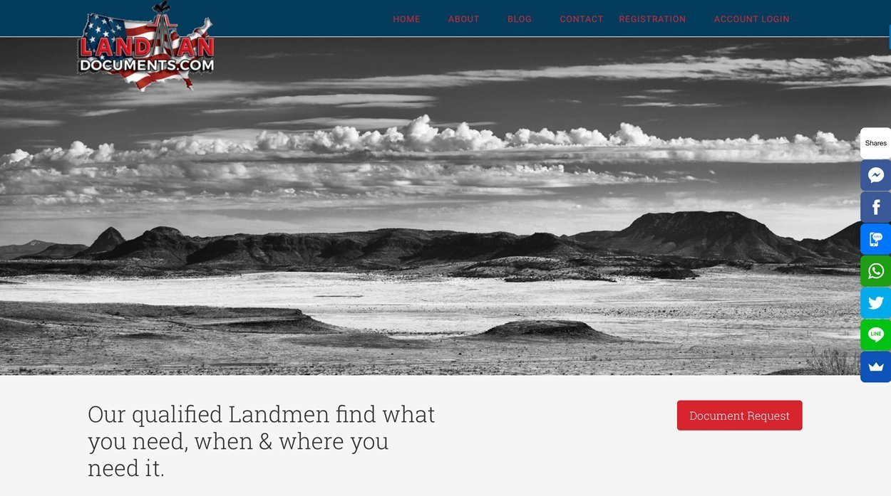 Texas Oil and Gas Industry Document Retrieval by Landmen Website Design