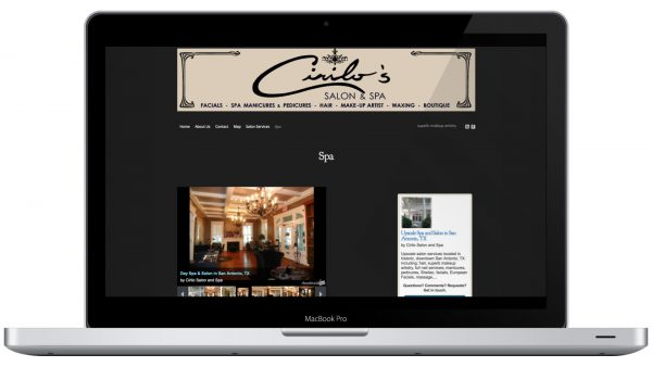 Cirilo Salon and Spa Website Design Local Business