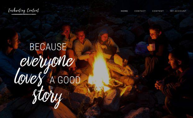 Enchanting Content Creation Website Design