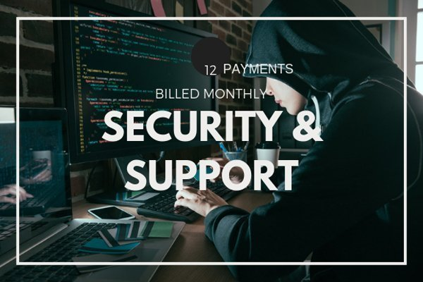Keep your website safe and updated by subscribing to our monthly Security and Support service.