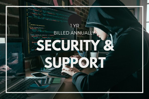 Keep your website safe and updated by sucscribing to our annual Security and Support plan