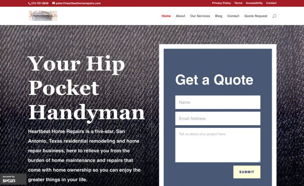 Local Handyman Website Design